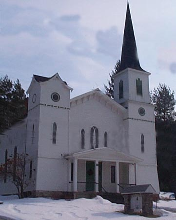 Picture of Meetinghouse before the fire